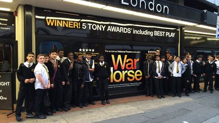 Students from Rokeby School saw War Horse in London's West End
