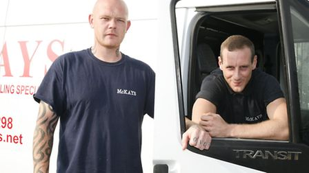 Lee and Dean (L-R) dragged the man in his 90s from his burning home