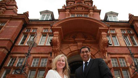 Principal Mouhssin Ismail and deputy Anita Lomax at the new Newham Collegiate Sixth Form Centre.