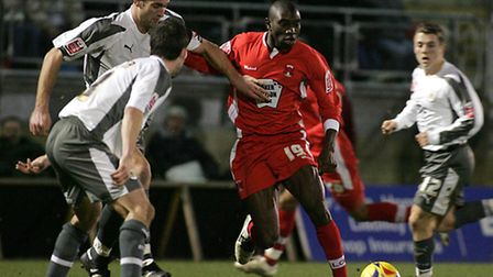 Jabo Ibehre playing for Orient against Birmingham City in January 2007. Pic: Simon O'Connor