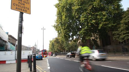 A section of the CS2 in Stratford has been removed due to safety concerns