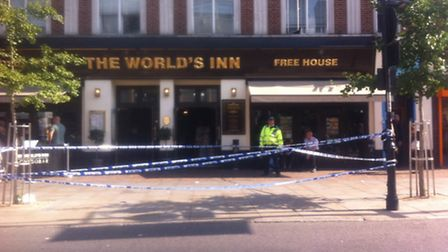 A 20-year-old man has been taken to hospital with serious head injuries.