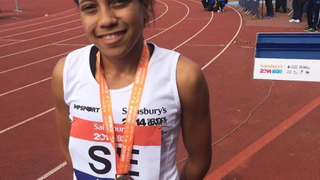 Havering's Michelle Hughes was in fine form at the School Games in Manchester