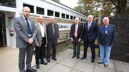 (From left to right) Cllr Tom Mclaren, Brian Huggett (chairman), George Fisher, Cllr Micheal Stark,