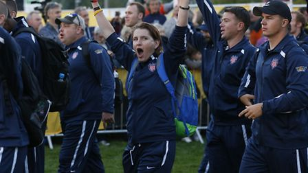 Members of the USA team during the opening ceremony of the Invictus Games. Picture: PA Wire/Jonathan