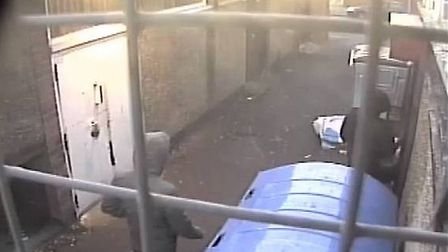 A CCTV image of the back of the premises. [Picture: Metropolitan Police Service]