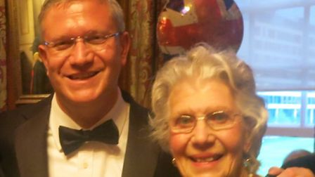 Romford MP Andrew Rosindell and his mother Eileen