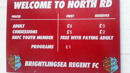 Romford's Ryman Division One North clash at Brightlingsea Regent was abandoned due to floodlight fai