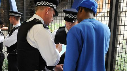 Met police conducting a stop and search