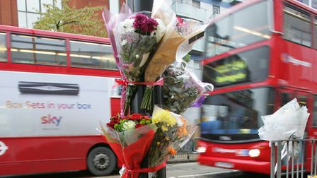 Flowers at the scene of the crash in Western road