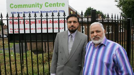 New North Road Community Centre trustees Dr Sohail Hameed (left) and Mr Arshad Khan.