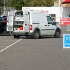 The scene of the incident in Tesco car park