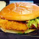 A picture of the pulled chicken burger Jamie received at KFC