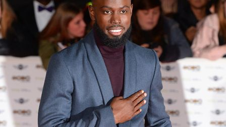 Ghetts arriving at the Mobo Awards last night