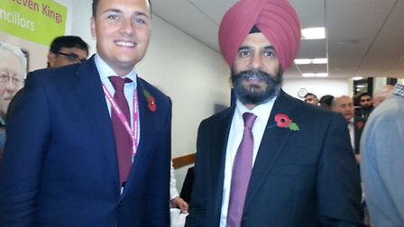Cllr Wes Streeting and Cllr Jas Athwal at the first Redbridge local forum