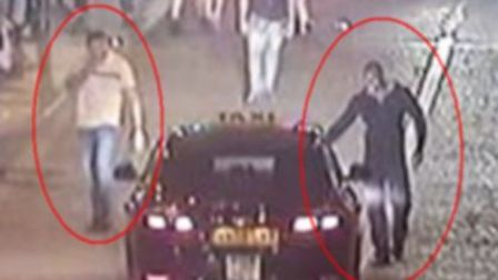 Police want to speak to these two men. Picture: Essex Police