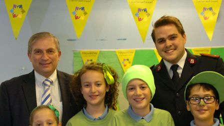 Pupils from Wohl Ilford Jewish Primary School taking part in Mitzvah Day with Lee Scott, MP For Ilfo