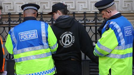 Police conduct a stop and search