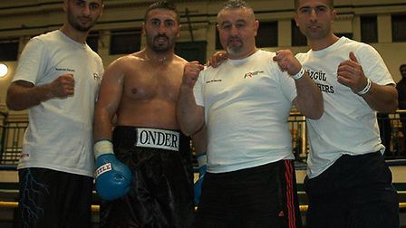 Trad TKO's Siar Ozgul, Onder Ozgul, Mo Hussain and Mehmet Aba celebrate another win (pic: Gianluca D
