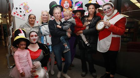Children and parents enjoy a Mad Hatter themed festival at Redbridge Library