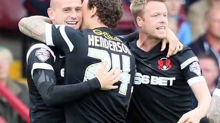 Scott Cuthbert (left) hopes the O's can bounce back tonight against Preston North End. Pic: Simon O