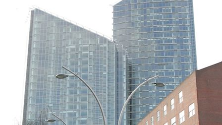 The Pioneer point towers in Ilford