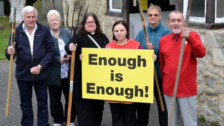 Aldborough Hatch Defence Association had their pitchforks at the ready in the campaign to protect th