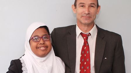 Ray Coe donated a kidney to Alya Ahmed Ali, a student at Royal Docks Community School where he is a