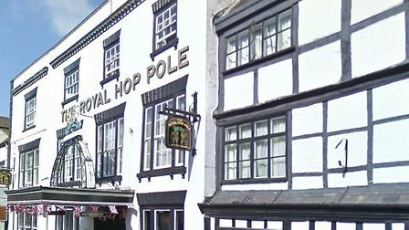 The Royal Hop Pole pub in Tewkesbury