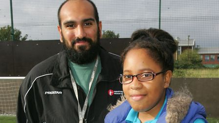 Young citizen nominee Monique Benjamin with her coach Neal Akhtar