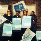 Walburgh Manhungria and her fellow midwives joined health care staff across the country striking for