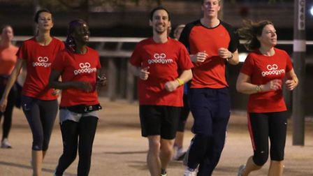 Reporter Freddy Mayhew joins GoodGym Newham on its inaugural run at Queen Elizabeth Olympic Park. Pi