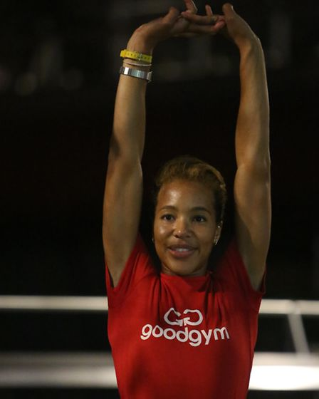 Trainer Kirsty, from Barking, is training to be a professional triple jumper with eyes on Rio 2016 ,
