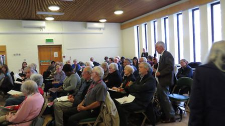 Residents attended a meeting about Wanstead Hospital's future. Pic: Thomas Thorn