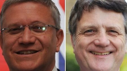 Romford MP Andrew Rosindell and his Ukip opponent Gerard Batten, currently an MEP for London