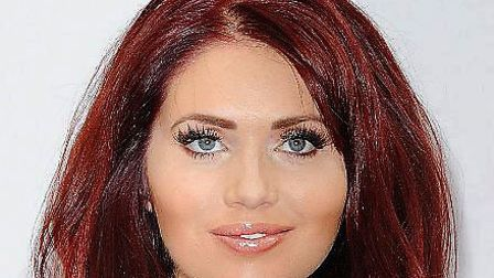Amy Childs was unhurt after flipping her car in South Woodford on Wednesday night