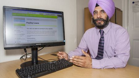 Pay day loan websites have been blocked on all council run computers, Pictured: council leader Jas A
