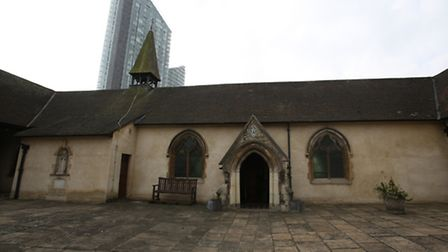 The historic Ilford Hospital Chapel in Ilford Hill.