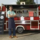 Giles Smith with his Box Chicken pitch in Forest Gate during the pilot in October 2013 Picture: Suki