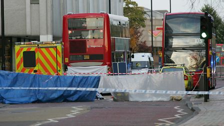 The scene of the fatal crash in Western road Romford