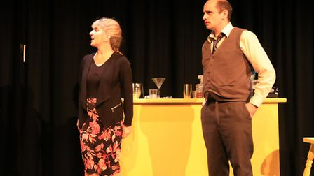 L-R Judith (Sally Lawrence) and Gerry (Chris Rees)