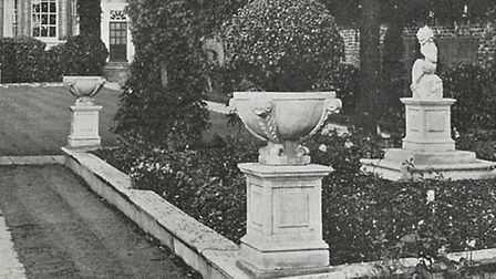 Flowerbeds in Hurst House's gardens in 1937. [Picture: Nicola Munday]