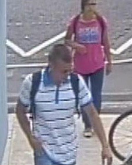 BritishTransport Police want to speak to this man. Picture: BTP