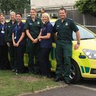 Community Treatment Team nurses and paramedics in font of rapid responce car. Picture: Havering CCG