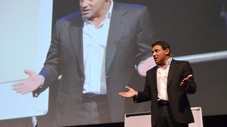 The real-life Wolf of Wall Street Jordan Belfort spoke at the ExCel Arena on Friday, November 21.