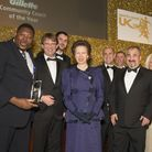 Chris Facey was presented with the trophy by Princess Anne Picture: Jeff Holmes