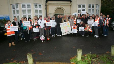 Havering mind volunteers gathered at about noon on Saturday