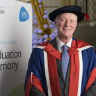 Barry Hearn was awarded the honorary doctorate at the University of East London Picture: David Harri