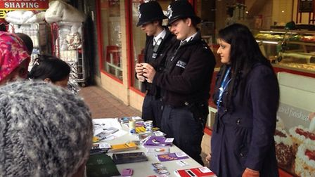 Police at the community action day in Green Street