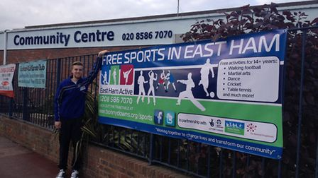 Mikey Mann, an apprentice at East Ham Active, is pictured at the Well Community Centre
